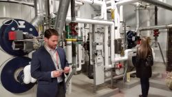 Sustainability at work: BSC ECo members 'looking under the hood' at piping during tour