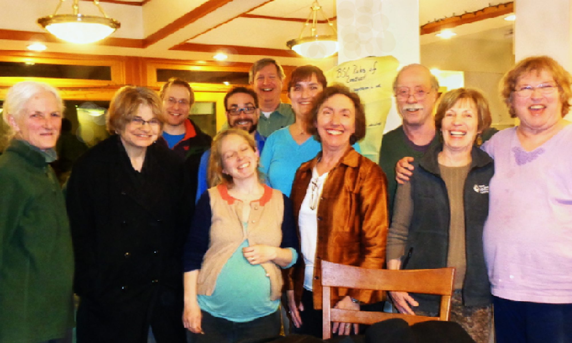 A group photo taken at Cornerstone Cohousing