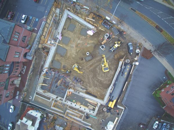 Aerial photo, 368 Pleasant construction