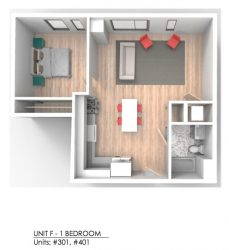 Bay State Commons Unit F - 1 Bedroom_Units 301, 401