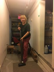 BSC cohousing member cleaning common work area